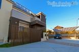 一体感のある二世帯住宅外構デザイン 播磨町