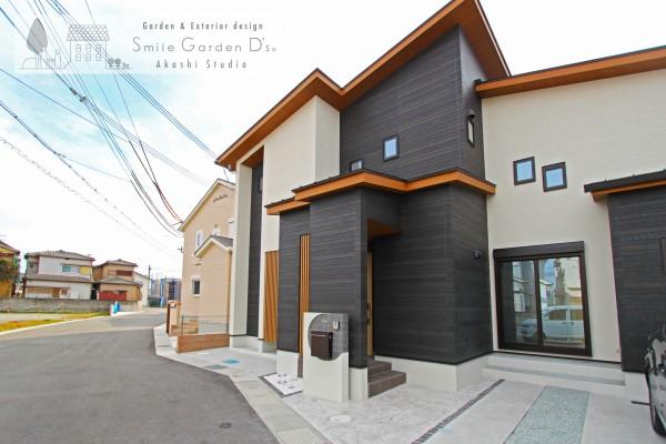 ジャパネスクモダン外構 神戸市西区