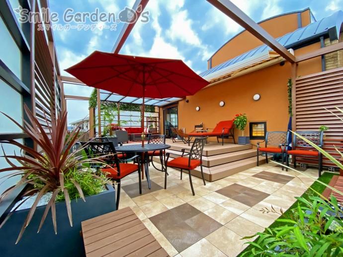 2階のバルコニースペースをリゾートガーデンに大改造