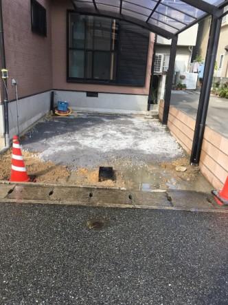 駐車場 工事中 明石