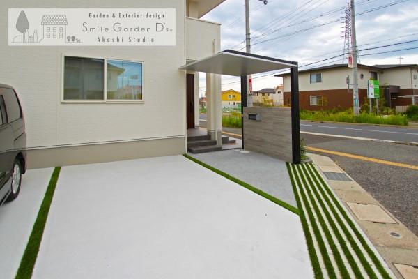 玄関の庇兼、サイクルポート 神戸市西区