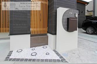 門柱 坪庭 和モダン