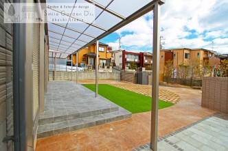 テラス屋根 タイルテラス 庭デザイン