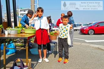 スマイルガーデン 神戸市西区 イベント 寄せ植えしたよ