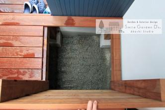 天然木 ウッドデッキ 床下収納