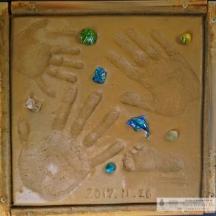 スマイルガーデンディーズ 記念手形 作りたて