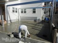 加古川外構 土間打ち 駐車場コンクリート