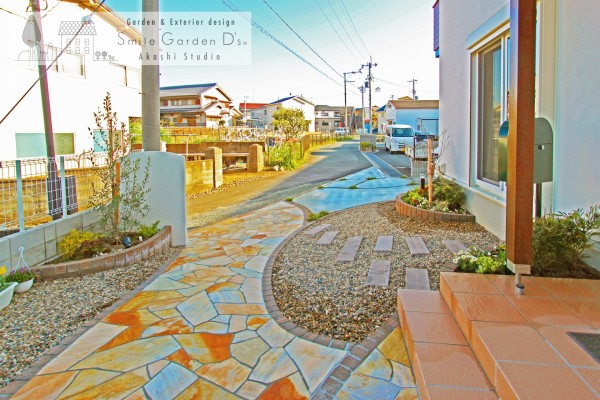 庭のようなアプローチ 加古川市