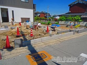 化粧ブロック 東洋工業 ライク 庭 デザイン 加古川市 工事中