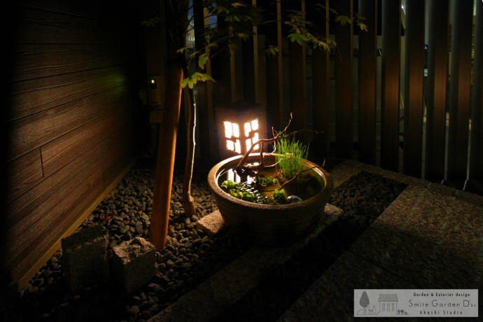 和モダン 坪庭 照明 スマイルガーデン