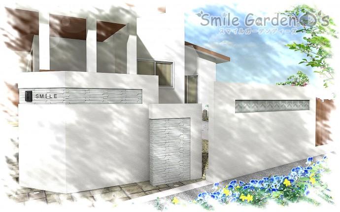 加古川市 庭 デザイン 門柱