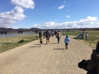 加古川 河川敷 散歩