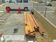ウッドデッキ 天然木 ウリン エクステリア 明石市外構工事