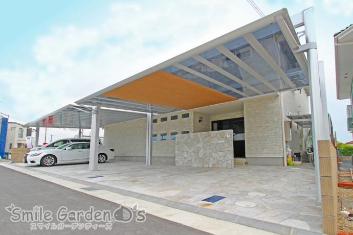 アーキフィールド デザインカーポート 乱形自然石 加古川市
