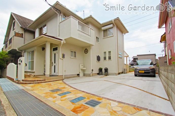 (仮)白を基調にしたナチュラルデザインのオープン外構 加古川市