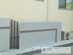 門柱 門廻り アートウォール 塗り壁 明石外構 大久保外構