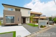 長いアプローチのある庭デザイン 加古川市