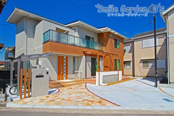 オープンデザインの新築外構 スマイルガーデン 加古川
