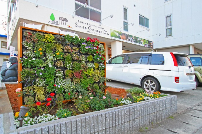 明石スタジオ壁面緑化