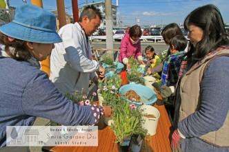 ガーデンショップ山咲さん お花販売 小さな寄せ植え教室