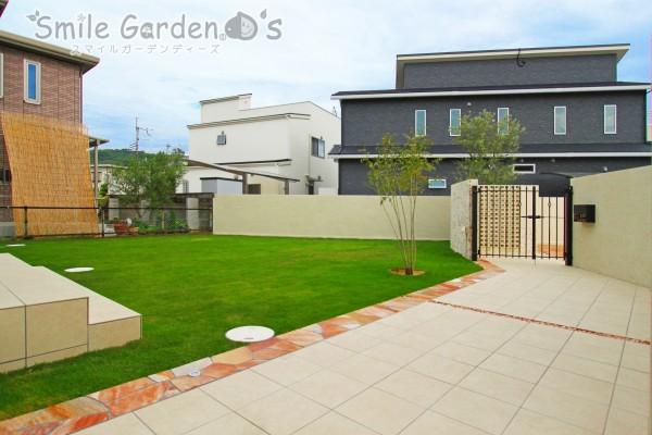 芝生のあるお庭 スマイルガーデン 明石市