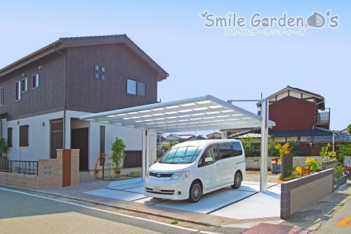 4G カーポート 庭 デザイン 加古川市 高砂市