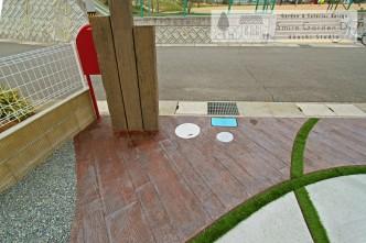 アプローチ スタンプコンクリート 神戸市西区
