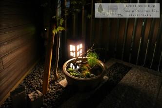 美しい坪庭をより美しくライトアップ 明石市