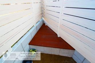 ベンチ式収納ボックス スマイルガーデン 加古川