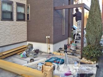 エクステリアデザイン +G 庭のリフォーム 高丘外構工事 平野町外構 岩岡町外構