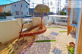 曲線を描いたアプローチ 神戸市西区