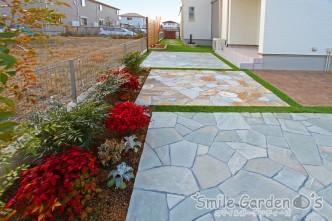 植栽スペース スタンプコンクリート アプローチ