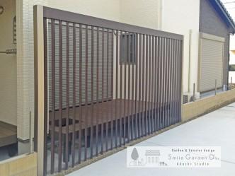 スマイルガーデン明石 明石市外構 +G デザイン格子 ウッドデッキ
