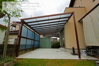 テラス屋根 熱線遮断ポリカ 神戸市西区