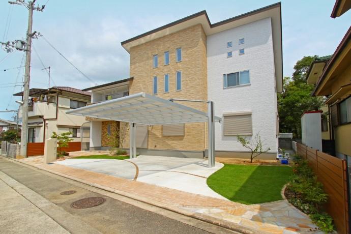 建物と一体感のあるナチュラルデザイン外構