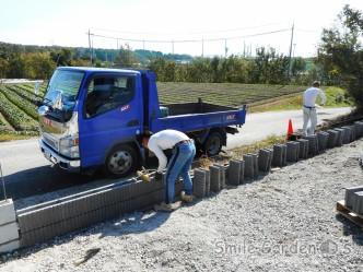 加古川新築外構 ブロック積み 外周ブロック