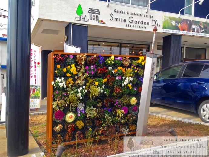 スマイルガーデン 壁面緑化 明石市 庭リフォーム