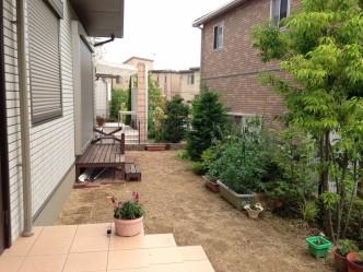 お庭のリフォーム  明石市