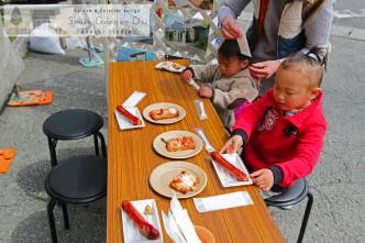スマイルガーデン 春の大相談会 ピザ