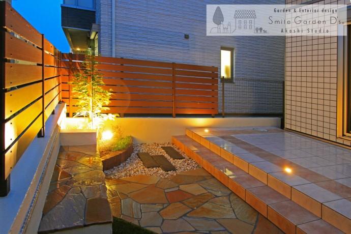 スマイルガーデン 庭デザイン ライティング