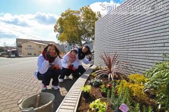 植栽 お手伝い 卒業記念 播磨町